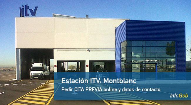 Pedir hora ITV en Montblanc