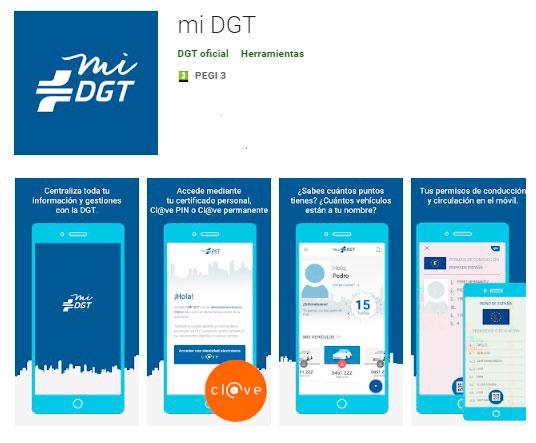 Aplicación de la DGT