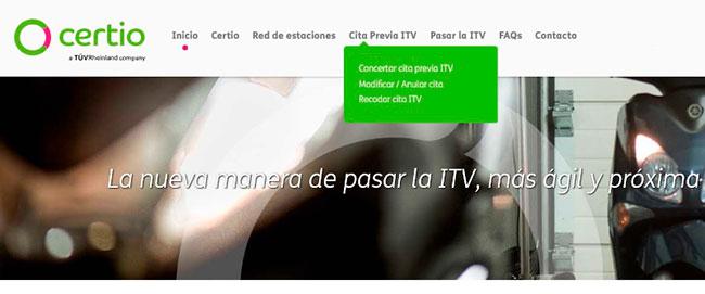 Cita Previa ITV en Certio