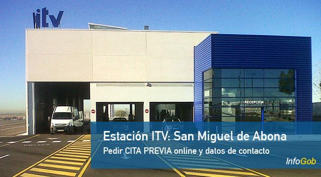 Cita ITV en San Miguel Abona