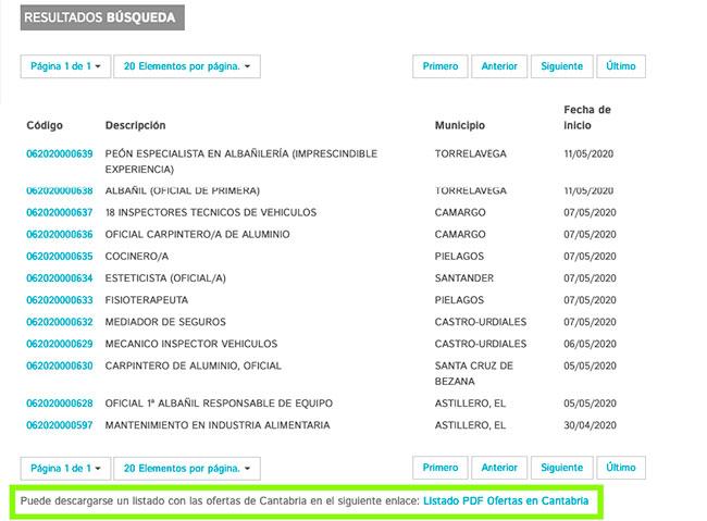 Listado de ofertas de empleo del Servicio Cántabro de Empleo-servicio-cantabro-empleo