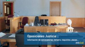 Oposiciones Justicia: convocatorias