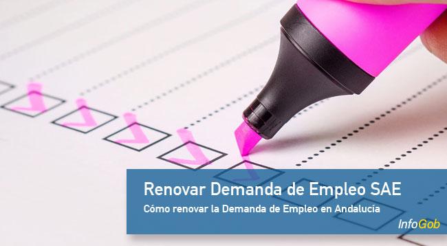 Renovar la Demanda de Empleo en Andalucía