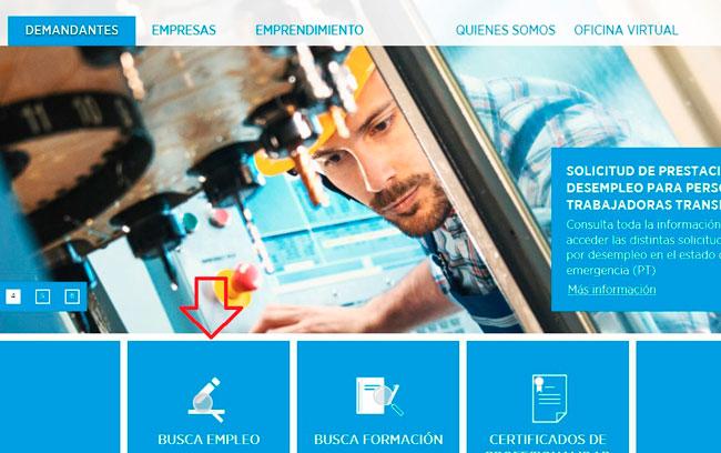 Buscar empleo desde el portal de Emprego Xunta