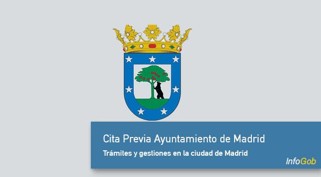 Cita Previa Ayuntamiento de Madrid