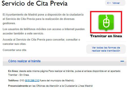 Cita Previa con Ayuntamiento de Madrid