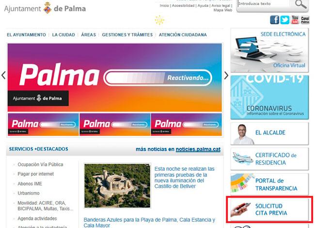 Pide tu Cita Previa en el Ayuntamiento de Palma