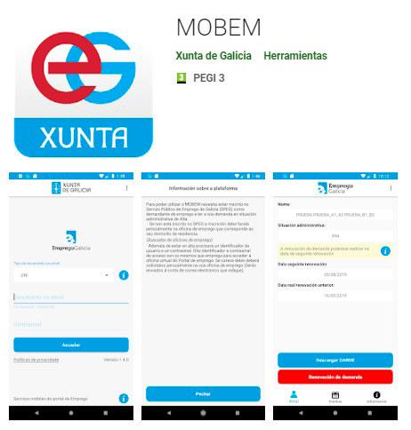 Aplicación móvil Emprego Xunta