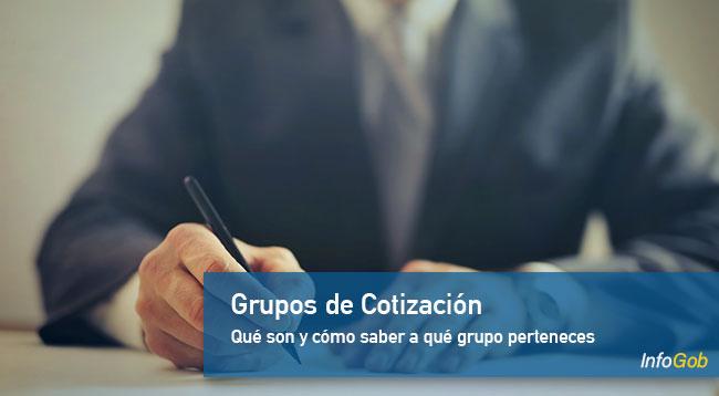 Grupos de cotización