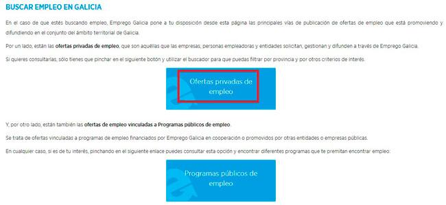 Ofertas Empleo Galicia desde internet