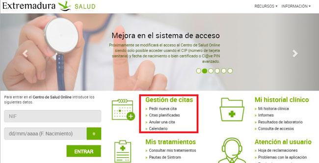 Portal web del SES