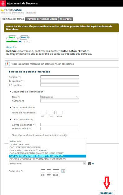 Pide cita con el Ayuntamiento de Barcelona