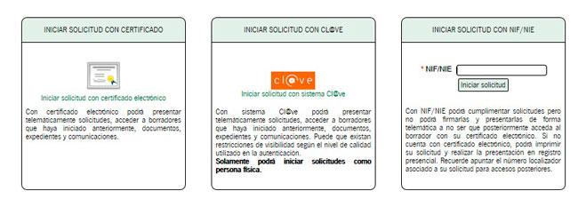 Acceso al trámite por internet de la Renta Mínima Social en Andalucía