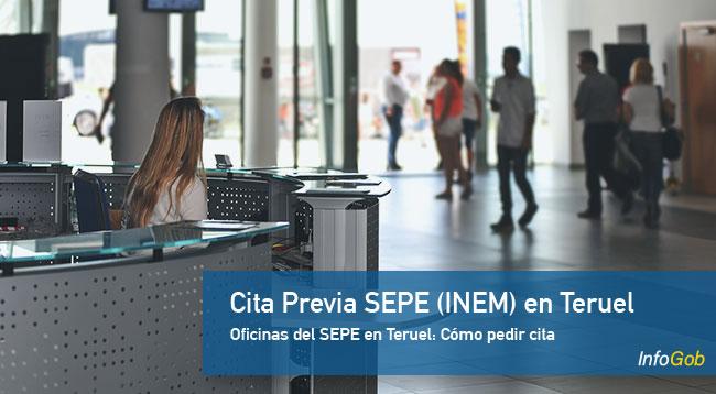 Cita con las oficinas del SEPE en Teruel