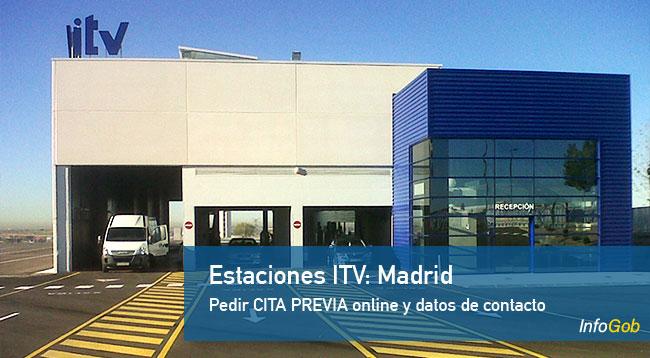 Estaciones ITV en la ciudad de Madrid