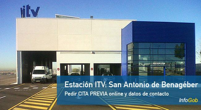 Cita previa en ITV de San Antonio de Benagéber