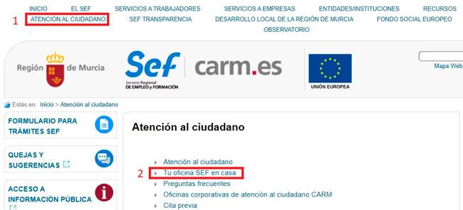 Acceso a Oficina SEF por internet