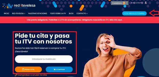 Cómo pedir tu cita en Itevelesa por internet