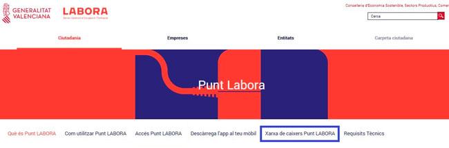 Red de cajeros con PuntLabora