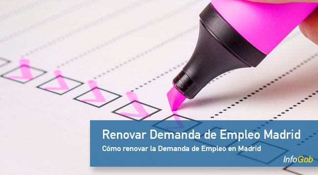 Renovar la Demanda de Empleo en la Comunidad de Madrid