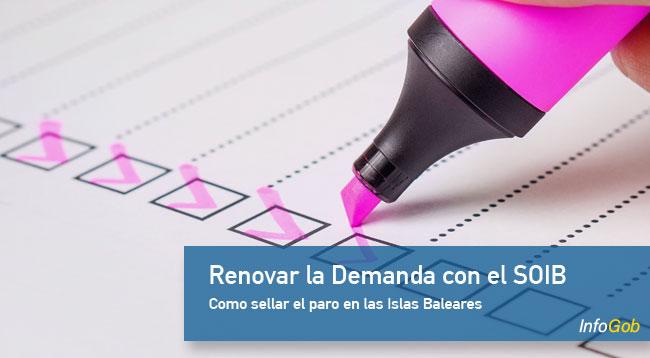 Renovar la demanda de empleo con el SOIB