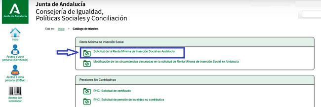 Solicitar Renta Social Andalucía por internet