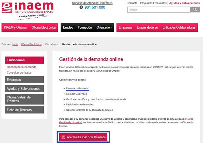 Renovar tu demanda de empleo por internet con el INAEM