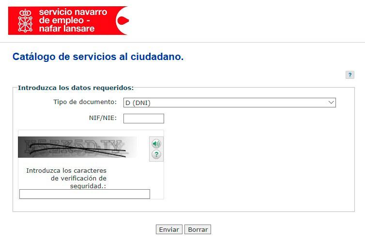 Portal acceso servicios con el SNE