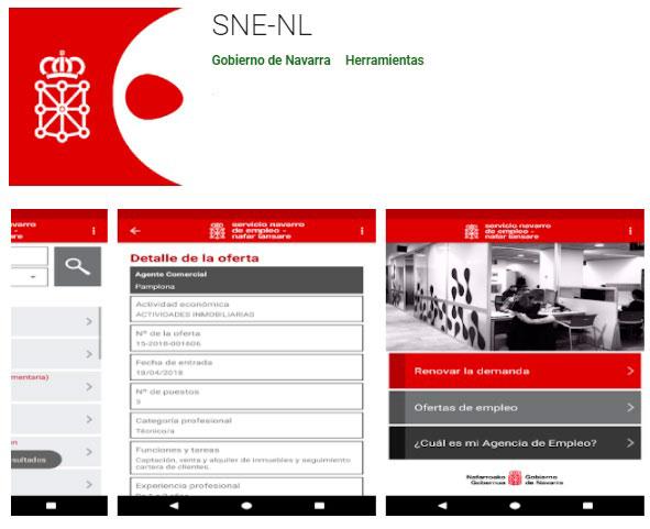 Aplicación móvil SNE para Renovar la Demanda