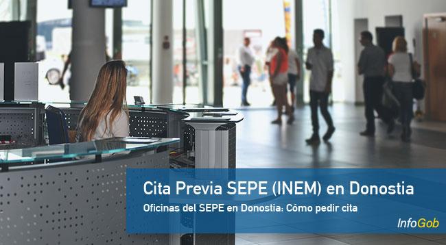 Cita Previa en oficinas del SEPE en Donostia