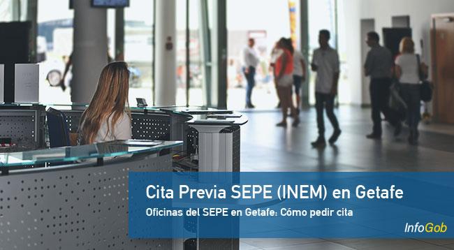 Cita Previa en oficinas del SEPE en Getafe