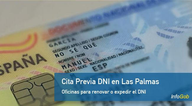 Pedir cita previa para el DNI en Las Palmas