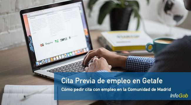 Cita previa con las oficinas de empleo en Getafe