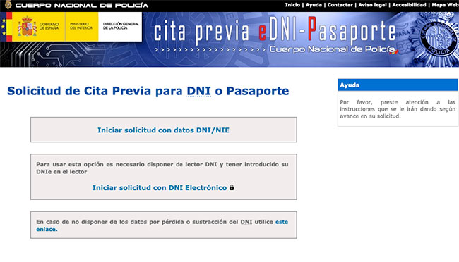 Sacar pasaporte online