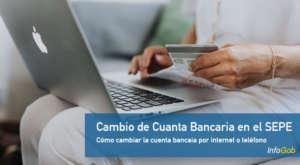 Cambio de la cuenta bancaria en el SEPE