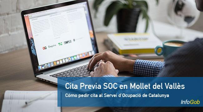 Cita previa con la oficina de empleo del SOC en Mollet del Vallès