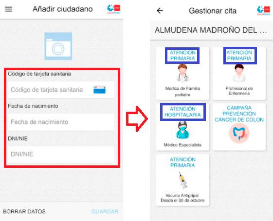 Cita previa con los médico en Madrid desde la aplicación