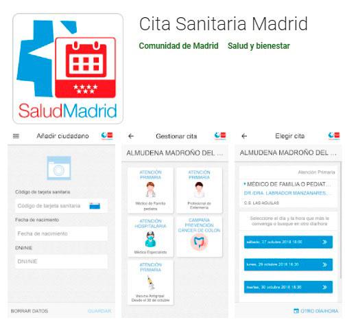 Cita previa de salud en Madrid desde el móvil