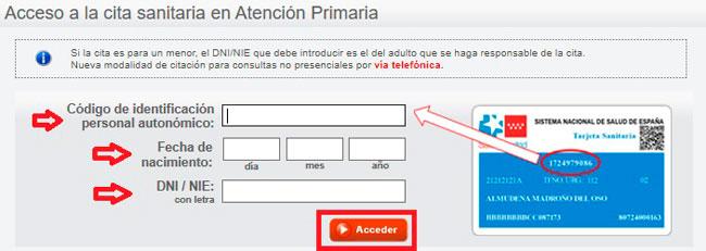 Pedir cita al médico en Madrid desde internet