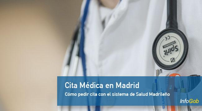 Pedir cita con el sistema de salud de Madrid