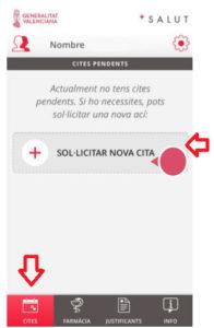 Seleccionar nueva cita previa desde el móvil para salud en Valencia