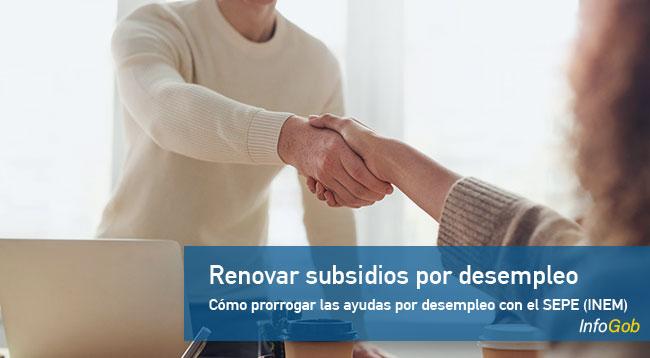 Renovar subsidio por desempleo con el SEPE