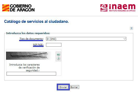 Sellar el paro por internet con el INAEM