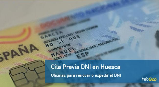 Pedir la cita previa para el DNI en Huesca