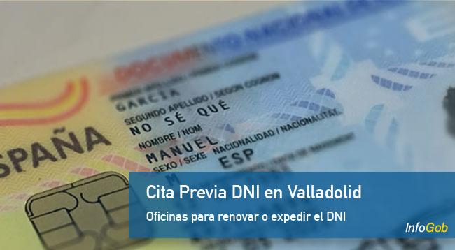 Cita previa para el DNI en Valladolid