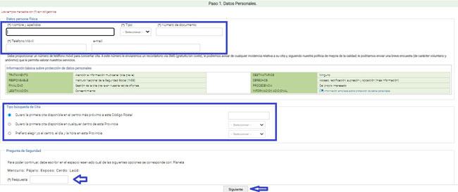 Pedir la cita previa con el INSS por internet