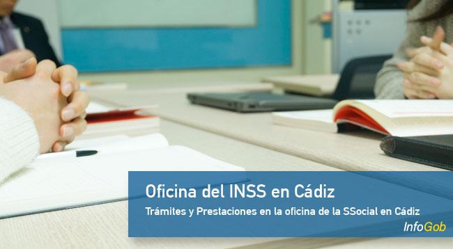 Lista de oficinas del INSS en Cádiz