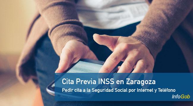 Pedir cita previa con el INSS en Zaragoza