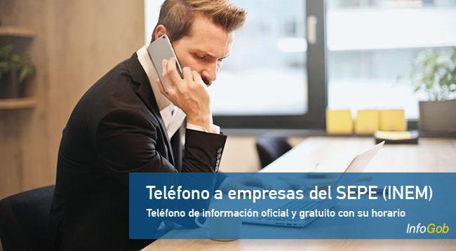 Teléfono del SEPE (INEM) para las empresas
