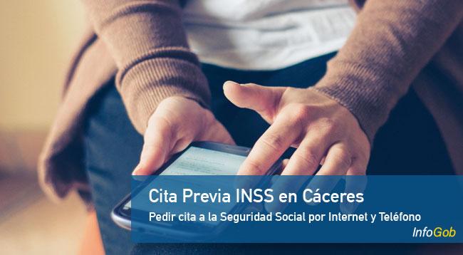 Solicitar la cita previa con el INSS en Cáceres